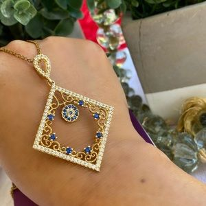 Jewelry - Evil Eye Gold Plated CZ Necklace